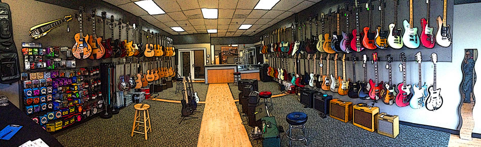 Photo of Crossroads Guitar Shop interior
