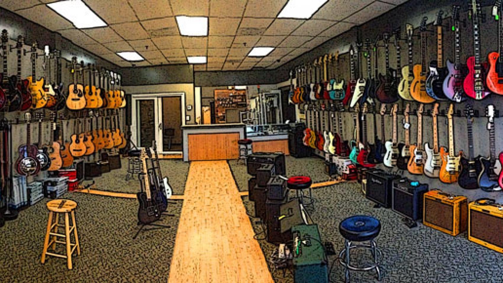 Photo of Crossroads Guitar Shop interior