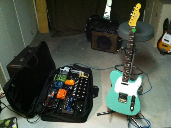 """Custom CGS """"Tele"""" for Trevor Blankenship with his rig"""